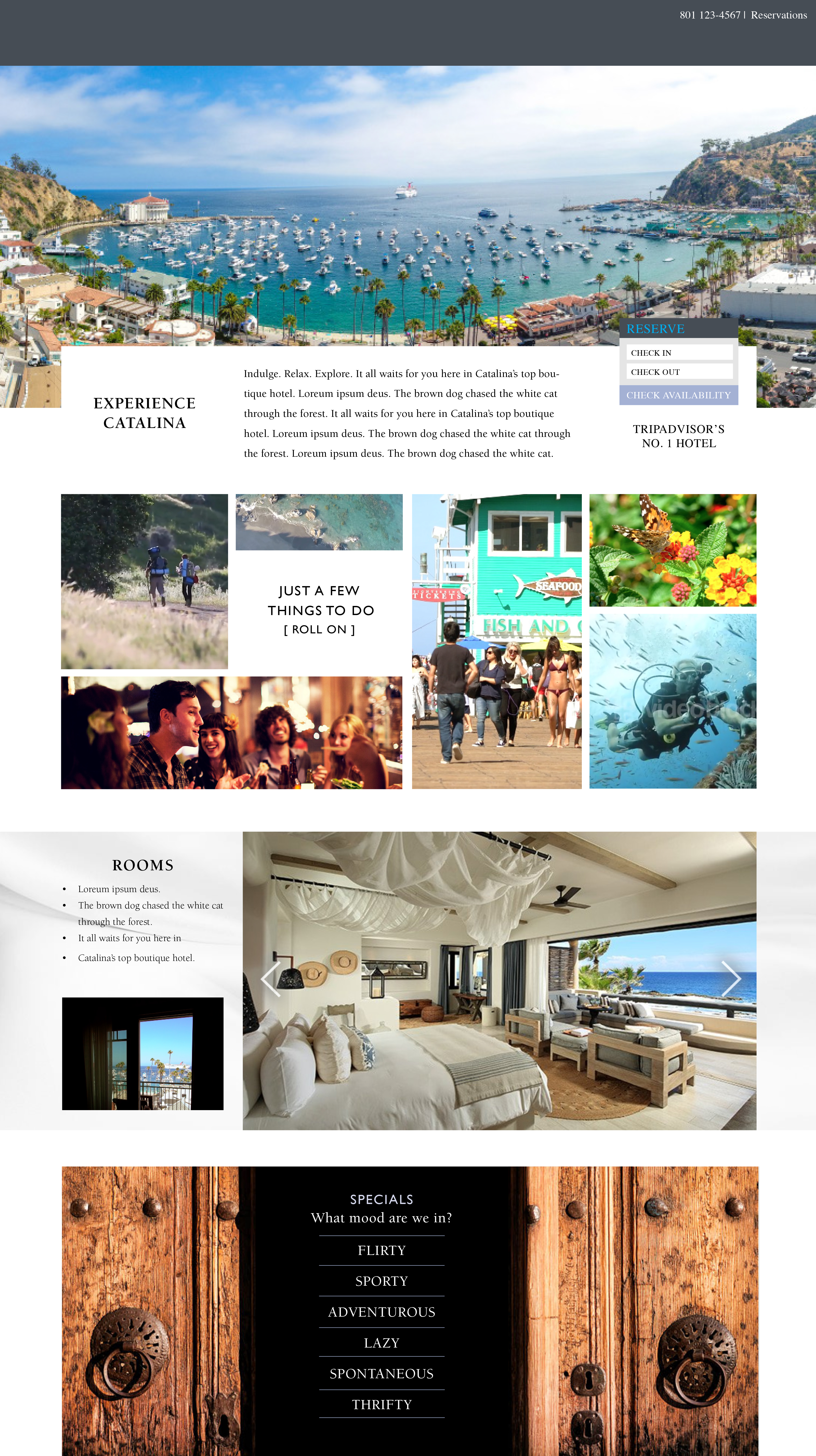 The Avalon Hotel Homepage